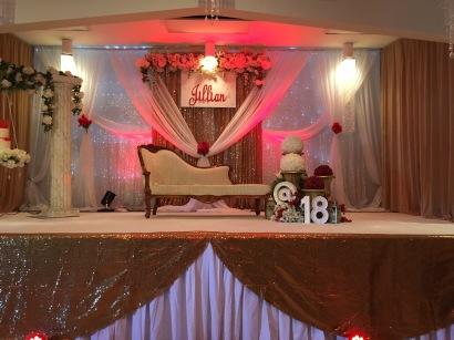Banquet Hall Stage - Birthday