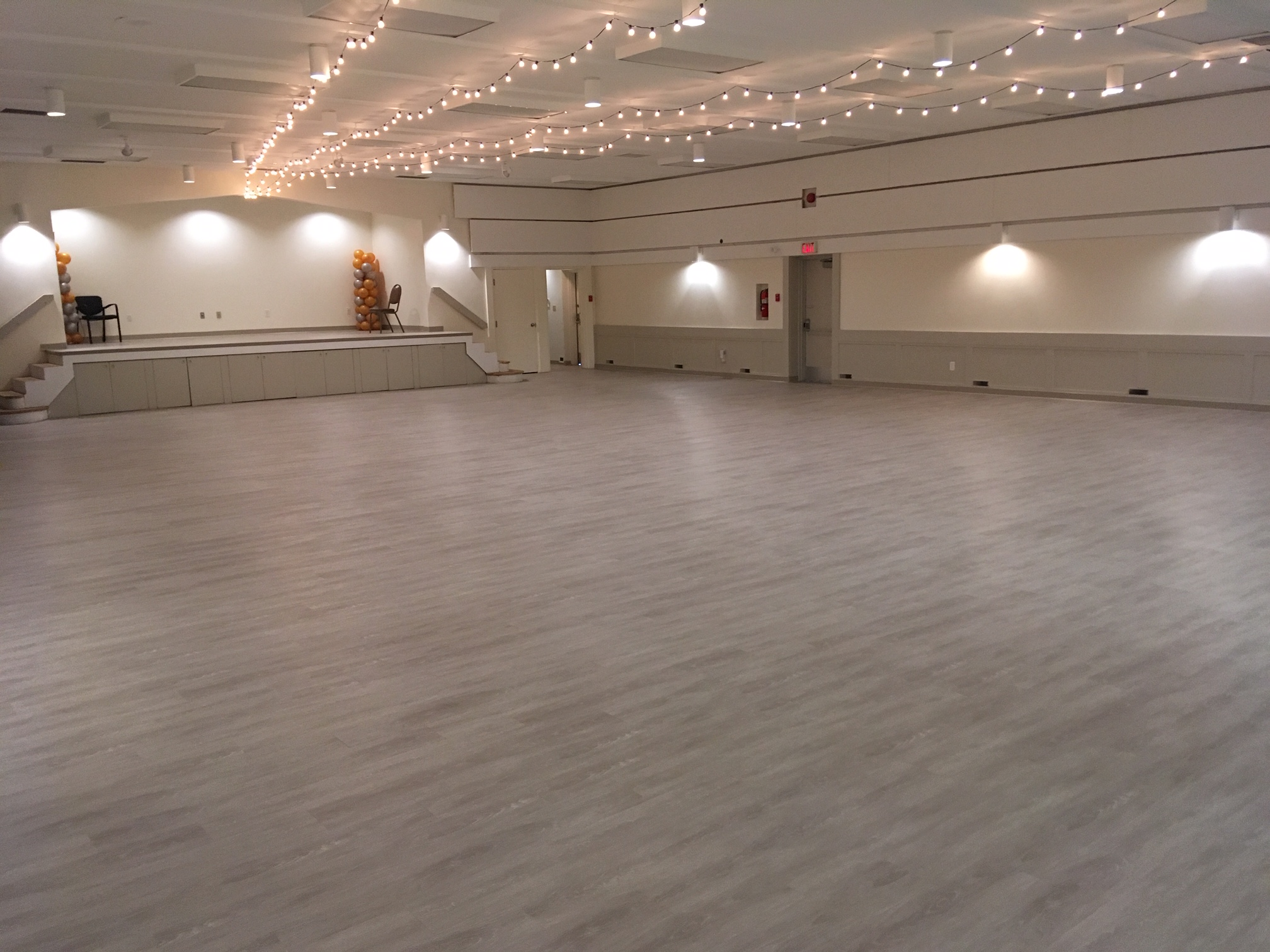 Southview Community Hall for Rent Weddings Wood Floors